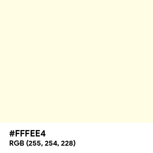 Pale Cream (Hex code: FFFEE4) Thumbnail