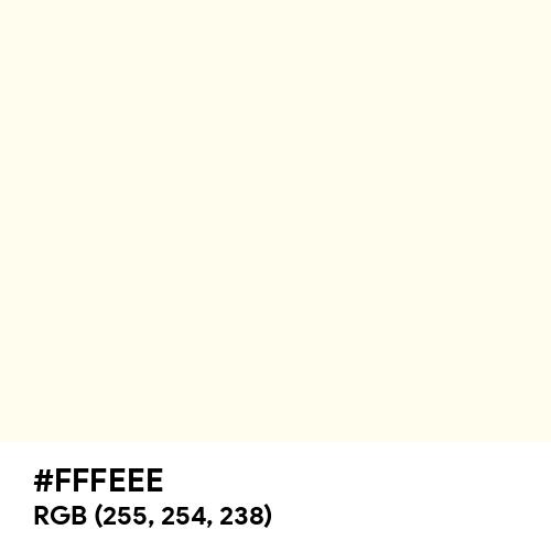 Ivory (Hex code: FFFEEE) Thumbnail
