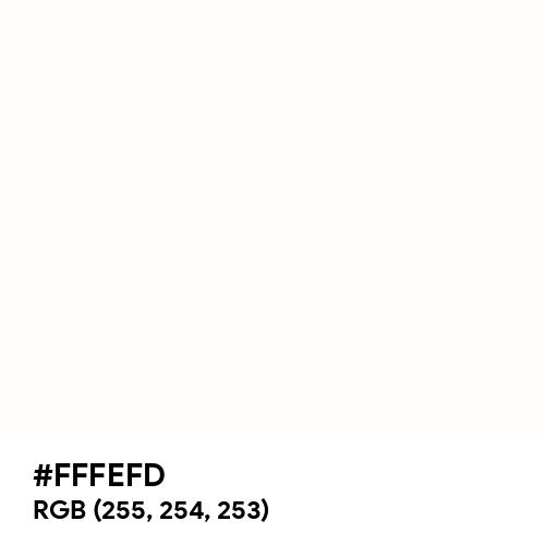 White (Hex code: FFFEFD) Thumbnail
