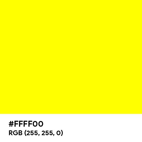 Pure Yellow (Hex code: FFFF00) Thumbnail
