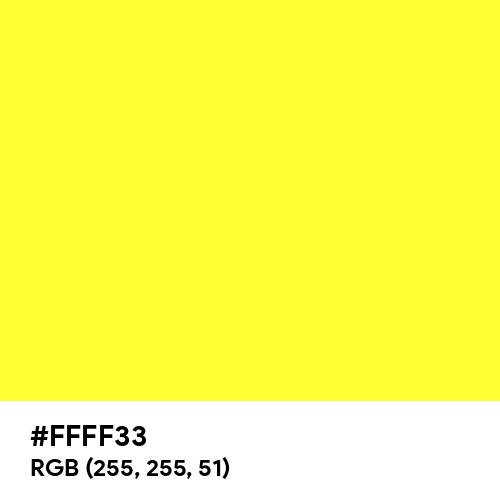 Electric Yellow (Hex code: FFFF33) Thumbnail
