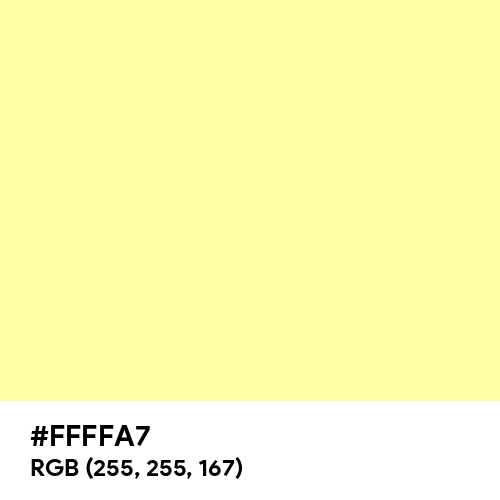 Pale Yellow (Hex code: FFFFA7) Thumbnail