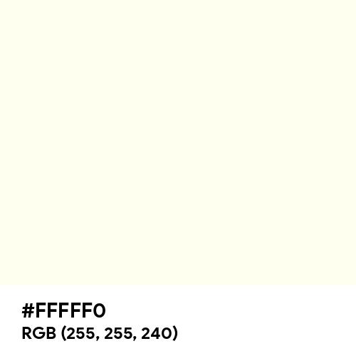 Ivory (Hex code: FFFFF0) Thumbnail