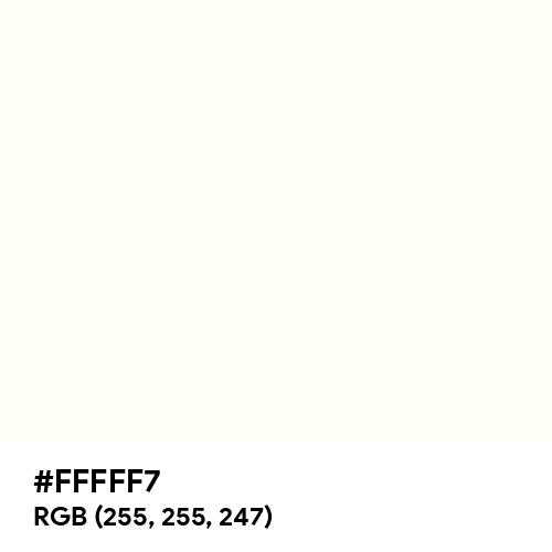 Light White (Hex code: FFFFF7) Thumbnail