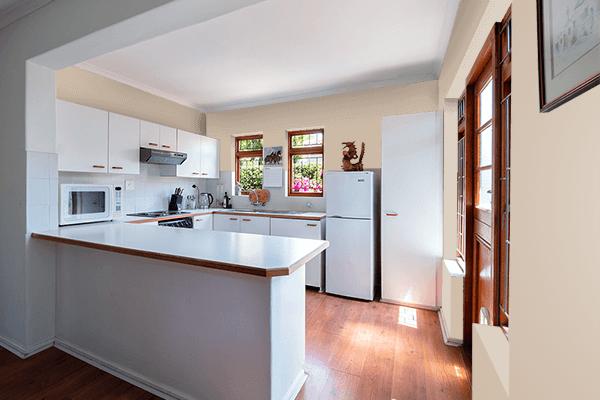 Pretty Photo frame on Smoke Gray color kitchen interior wall color