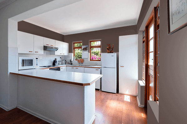 Pretty Photo frame on Chocolate Martini color kitchen interior wall color