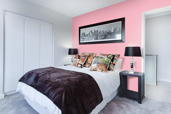 Pretty Photo frame on Candy Pink color Bedroom interior wall color