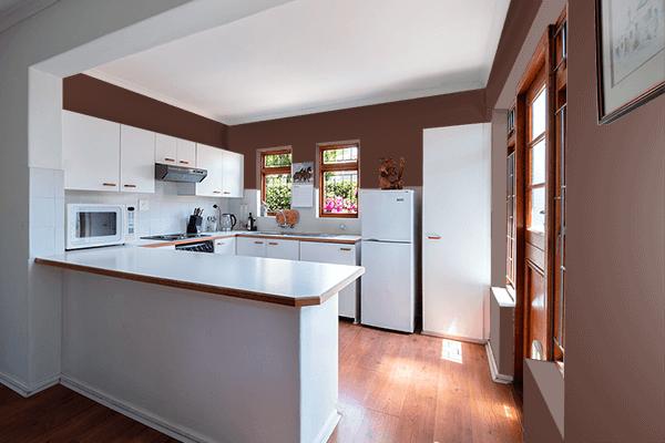 Pretty Photo frame on Chocolate Fondant color kitchen interior wall color