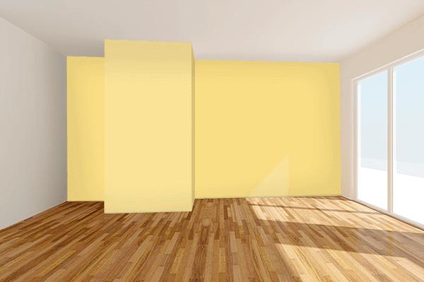 Pretty Photo frame on Sunshine (Pantone) color Living room wal color