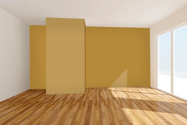 Pretty Photo frame on Harvest Gold (Pantone) color Living room wal color