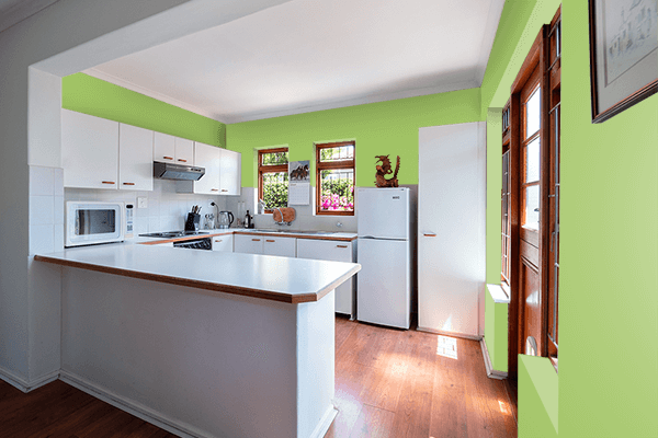 Pretty Photo frame on Spring color kitchen interior wall color