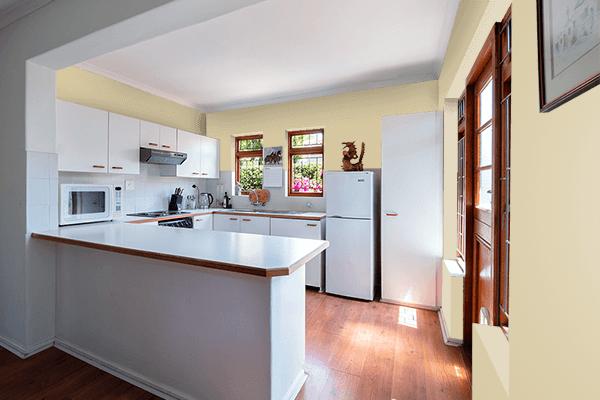 Pretty Photo frame on Sea Mist color kitchen interior wall color