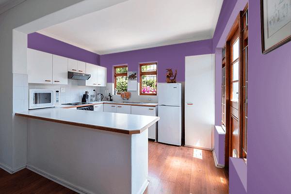 Pretty Photo frame on Purple Heart color kitchen interior wall color