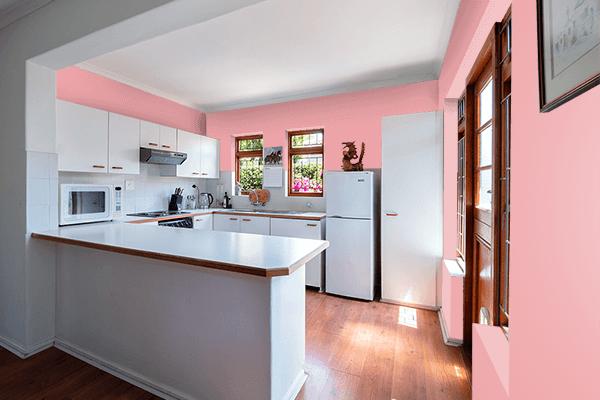 Pretty Photo frame on Quartz Pink color kitchen interior wall color
