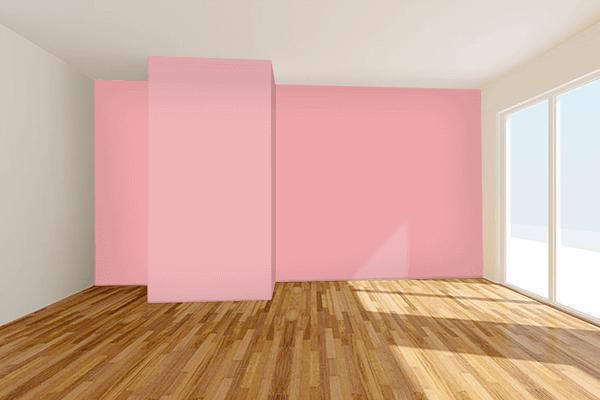 Pretty Photo frame on Quartz Pink color Living room wal color