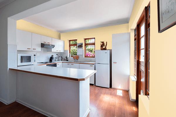 Pretty Photo frame on Supernova color kitchen interior wall color