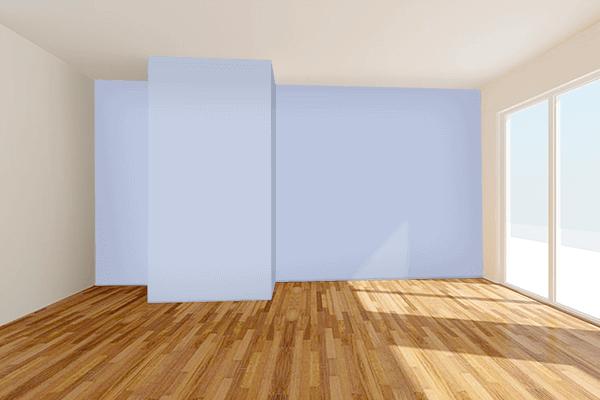 Pretty Photo frame on Violet Scent Soft Blue color Living room wal color