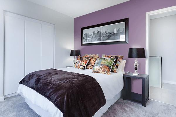 Pretty Photo frame on Cyclamen color Bedroom interior wall color