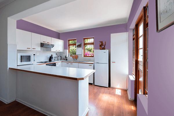Pretty Photo frame on Cyclamen color kitchen interior wall color