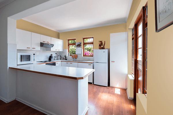 Pretty Photo frame on Light Stone color kitchen interior wall color