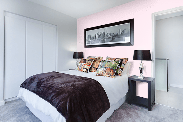 Pretty Photo frame on Pink Crystal color Bedroom interior wall color