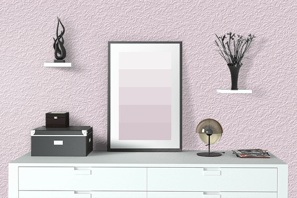 Pretty Photo frame on Pink Crystal color drawing room interior textured wall