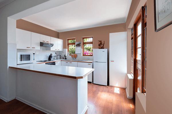 Pretty Photo frame on Milk Coffee Brown color kitchen interior wall color