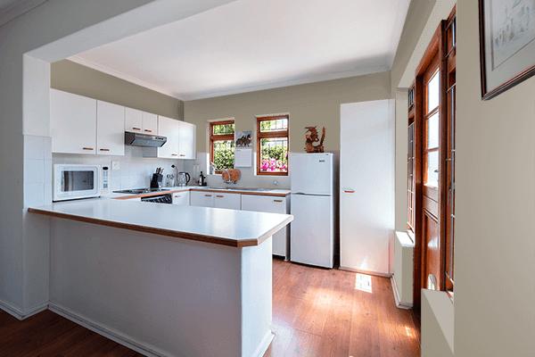 Pretty Photo frame on Matte Olive (RAL Design) color kitchen interior wall color