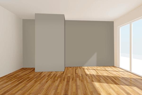 Pretty Photo frame on Matte Olive (RAL Design) color Living room wal color