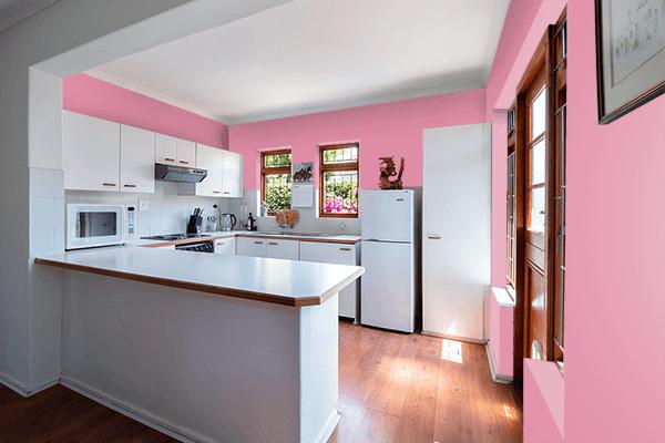 Pretty Photo frame on Primrose color kitchen interior wall color