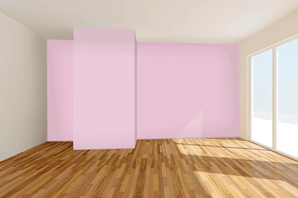 Pretty Photo frame on Pink Shimmer color Living room wal color