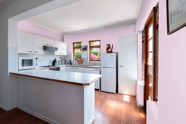 Pretty Photo frame on Lilac Snow color kitchen interior wall color