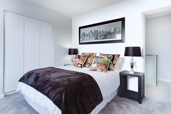 Pretty Photo frame on Alice Blue color Bedroom interior wall color