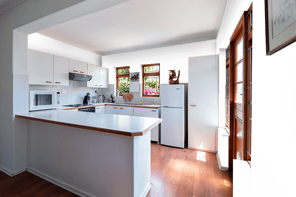 Pretty Photo frame on White color kitchen interior wall color