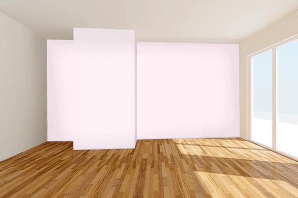 Pretty Photo frame on Lavender Blush color Living room wal color