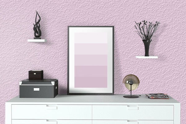 Pretty Photo frame on Pink Lace color drawing room interior textured wall