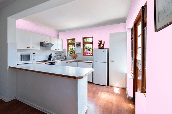 Pretty Photo frame on Pink Lace color kitchen interior wall color