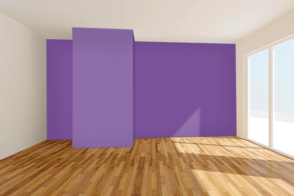 Pretty Photo frame on Light Violet color Living room wal color