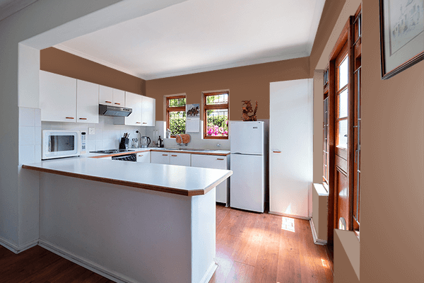 Pretty Photo frame on Brown (Traditional) color kitchen interior wall color