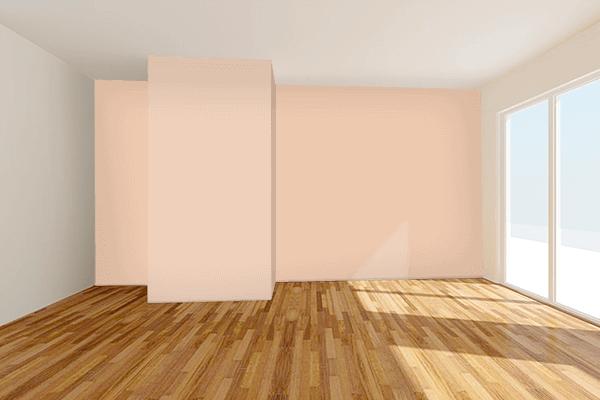 Pretty Photo frame on Desert Sand color Living room wal color