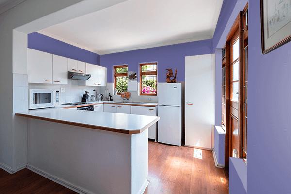 Pretty Photo frame on Dark Blue-Gray color kitchen interior wall color
