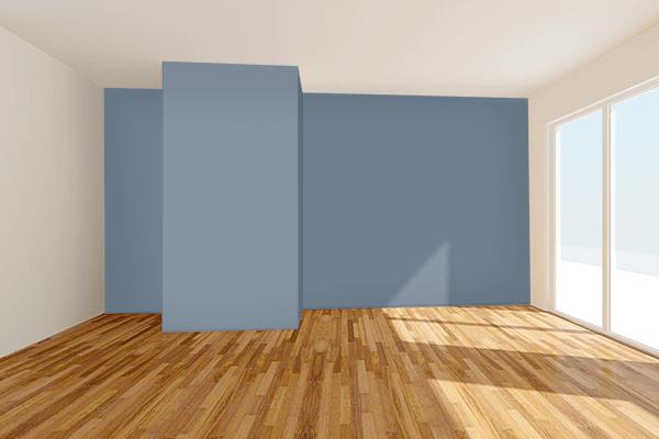 Pretty Photo frame on Slate Gray color Living room wal color