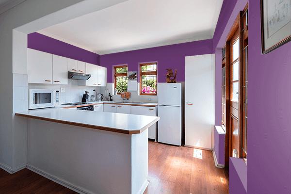 Pretty Photo frame on Vintage Purple color kitchen interior wall color