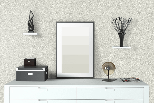Pretty Photo frame on Ivory color drawing room interior textured wall