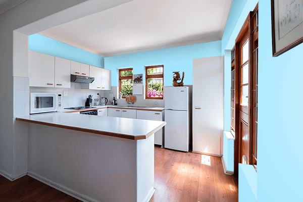 Pretty Photo frame on Fresh Air color kitchen interior wall color