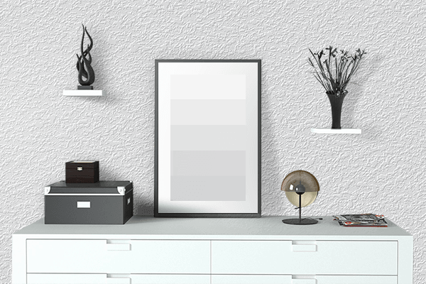Pretty Photo frame on Solid White color drawing room interior textured wall