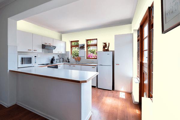 Pretty Photo frame on Pale Cream color kitchen interior wall color