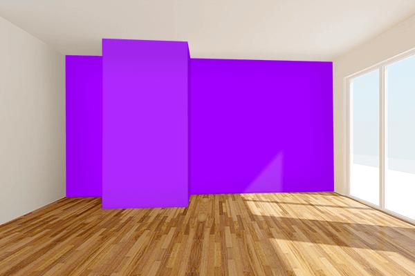 Pretty Photo frame on Vivid Violet color Living room wal color