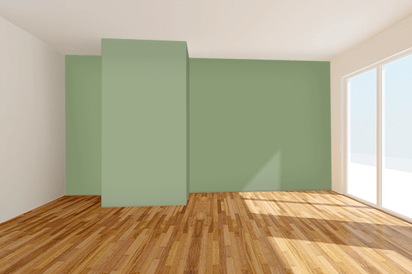 Pretty Photo frame on 薄青 (Usuao) color Living room wal color