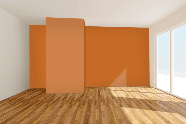 Pretty Photo frame on 金茶 (Kincha) color Living room wal color